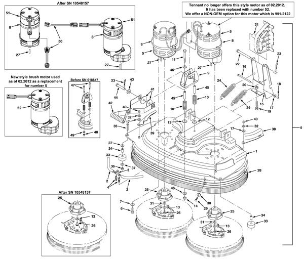 New Tennant 5680 Parts Manual