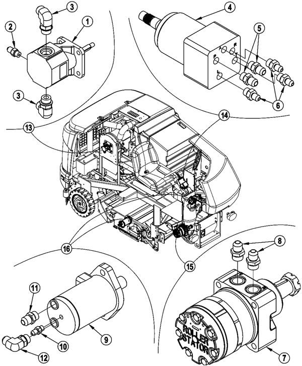 untitled document Fuel Filter Suppressor hydraulic motor assembly 272 7631