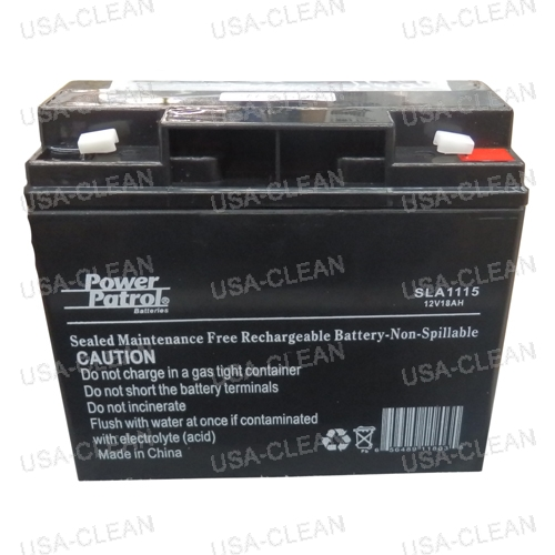 Hillyard C3 Restroom Cleaning : Battery with label details  usa clean